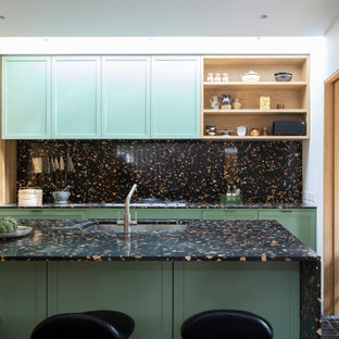 Design ideas for a classic kitchen in Sussex.