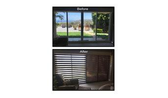 La Jolla Home-Guest Room Custom Dual Shades-Front on
