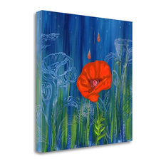 """""""Poppy Night"""" By Longfellow Designs, Giclee Print On Gallery Wrap Canvas"""