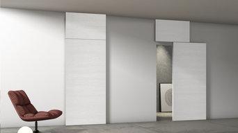 PHI porte, modello scorrevole Visual con applicazione HI PHI