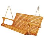 Sittin' Easy - Sittin' Easy 4' Medium Back Porch Swing - Made in the U.S.A