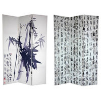 Double Sided Bamboo Calligraphy Canvas Room Divider