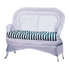 Country Love Seat White Fabric