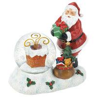 Christmas Collection Santa Chimney Decorative LED Christmas Snow Globe