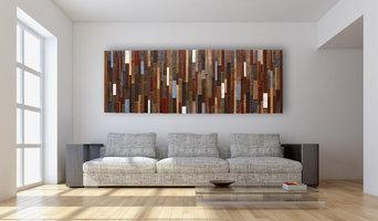 "Reclaimed wood wall art  85"" x 30"""