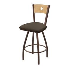 830 Voltaire 36-inch Swivel Counter Stool Natural Back And Canter Earth Seat