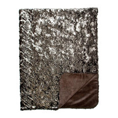 Shimmer Silver and Suave Black Throw