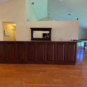 Custom wrap around bar and countertops