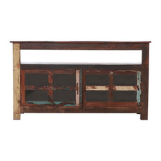 """Distressed Solid Wood Glass Door 59"""" Buffet table"""