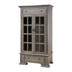 Stein World Hartford Cabinet With 3 Inner Shelves Moonstone 17118