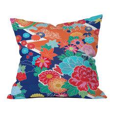 Juliana Curi Osaka Orange Outdoor Throw Pillow