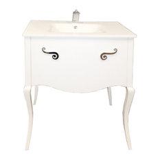 "Viena 32"" Bathroom Vanity, White High Gloss"