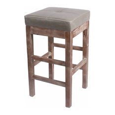 new pacific direct inc valencia bonded leather counter stool with driftwood legs vintage