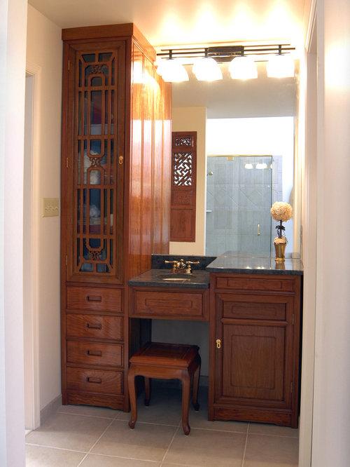 salle de bain asiatique avec un bain bouillonnant photos