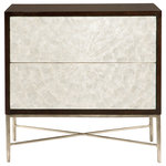 bernhardt - Abby Nightstand - Gmelina solids and flat cut cherry veneers