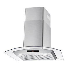 "Cosmo 380 CFM 30"" Wall Mount Range Hood With Touch Controls, Stainless Steel, 30"
