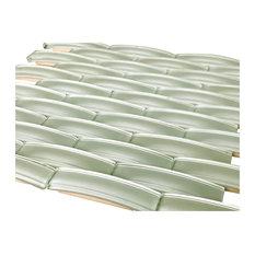 "11.75""x11"" Vail Bridge Mosaic Tile Sheet, Soft White"