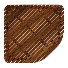 Erika Corner Shower Spa Mat, Solid Teak Wood and Oiled Finish