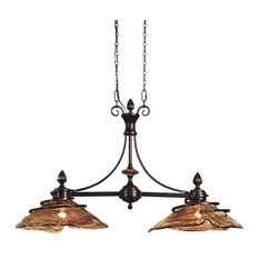 Vitalia 2-Light Bronze Kitchen Island By Designer Carolyn Kinder