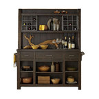 Display Cabinet With Solids Rubberwood and Black Cherry Finish - Traditional - China Cabinets ...