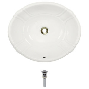 O1815 Overmount Porcelain Sink Contemporary Bathroom Sinks By Mr Direct Sinks And Faucets