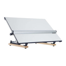 Modern Stylish Drawing Board Table, Strong Plastic With Solid Wood Base