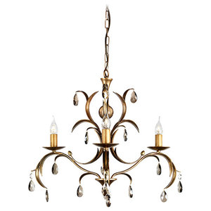 Antique Bronze 3-Light Chandelier