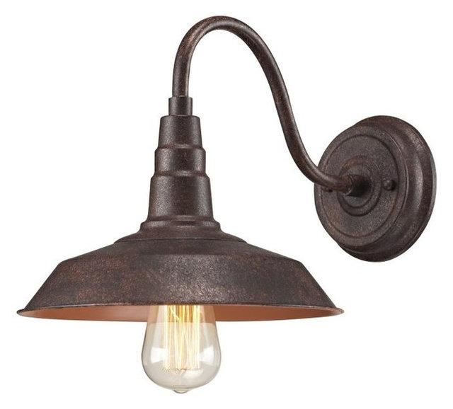 Elk lighting 66945 1 urban lodge 1 light wall sconce weathered bronze
