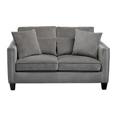 Cathedral Loveseat, Gray Fabric