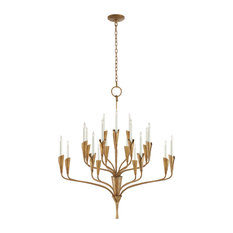 Aiden Large Chandelier, Gilded Iron