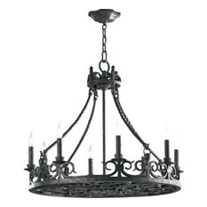 Spanish chandeliers houzz quorum international lorenco 8 light chandelier spanish silver chandeliers aloadofball Images