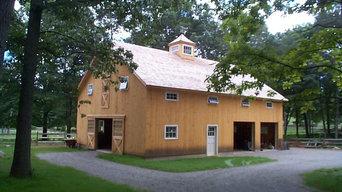 Horse Barn, Garage & Caretakers Apartment.