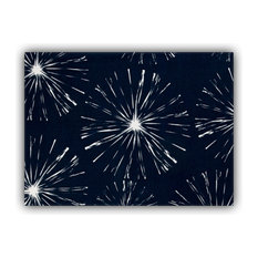 Fireworks Navy Indoor/Outdoor Placemat, Finished Edge