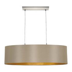 eglo usa 2 light standard bulb island light matte nickel kitchen island lighting