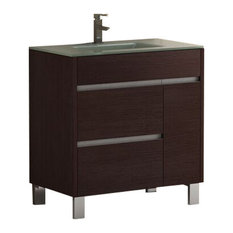 "Eviva Tauro 32"" Wenge Bathroom Vanity With Sink"