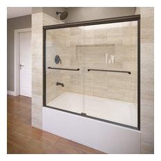 "Infinity Semi-Frameless Sliding Bathtub Door, 54.5-58.5"", Clear, Oil Rubbed"