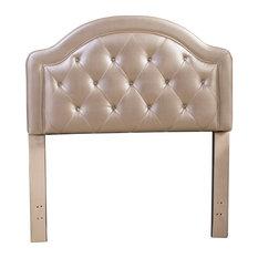 Hillsdale Furniture Karley Twin Faux Leather Champagne Headboard