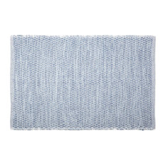 DII French Blue Diamond Recycled Yarn Rug
