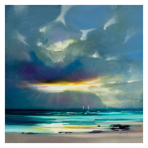 """West Coast Blues II"" Printed Canvas by Scott Naismith, 40x40 Cm"