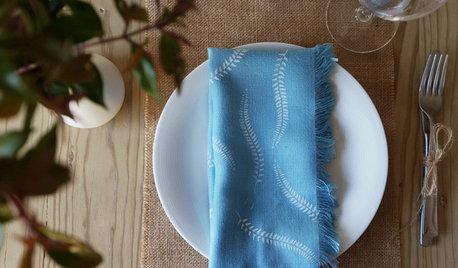 Hazlo tú mismo: Unas servilletas decoradas con esténcil
