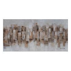 """""""Abstract Desert Dunes"""" Hand Painted Canvas Artwork; Fine Art; Modern Artwork"""