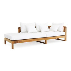 OASIQ Hamilton Chaise Lounge Arm Right With Canvas Natural Cushions