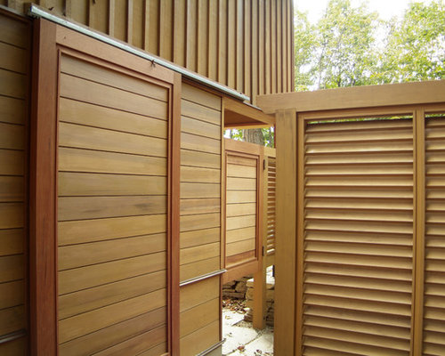 Louvered privacy screen design ideas remodel pictures for Rustic outdoor privacy screens