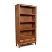Midtown Parota Wood 1 Drawer Open Shelf Bookcase