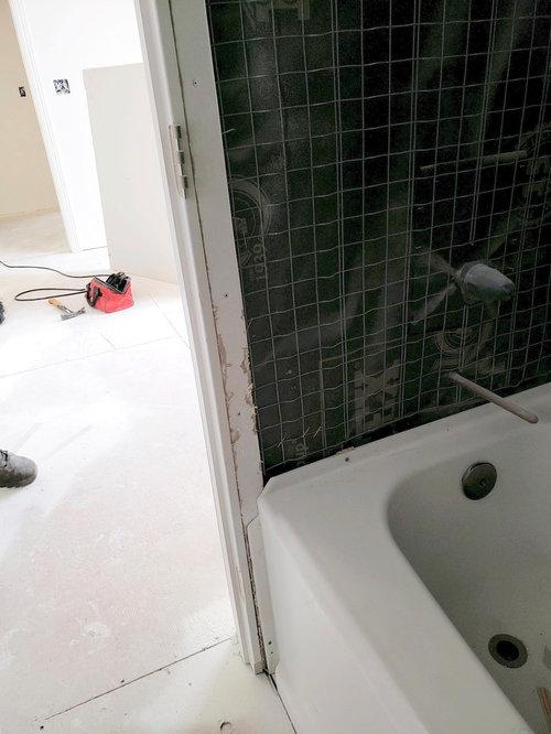 Door Trim Is Too Close To Bathtub Do We Install Trim Or Tile