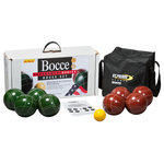 St.Pierre Sports - Tournament Bocce Set With Nylon Bag, TB1 by St. Pierre, Made In USA - St. Pierre Premium Bocce Sets are Made in the USA. Our Bocce sets feature solid, all-resin, one-piece construction balls crafted with precision roundness and balance. The balls are made of a thermo-set composition resin and are striped for 2 to 4 player competition. This tournament grade set is manufactured for precision game play. St. Pierre Sports has been offering customers consistent quality and on-time delivery for more than 95 years.