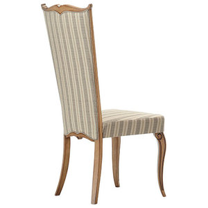 Dining Chair With Striped Italian Fabric, Without Armrests