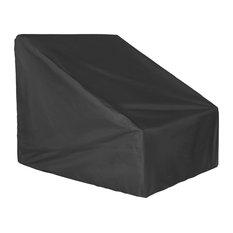 Westintrends Outdoor Water Resistant Patio Chair Cover (Medium), Black