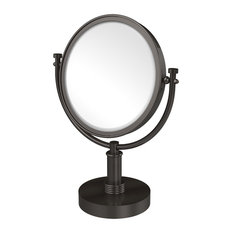 """8"""" Vanity Top Make-Up Mirror 4X Magnification, Oil Rubbed Bronze"""