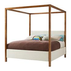 Stanley Panavista Queen Archetype Canopy Bed in Goldenrod 704-13-40